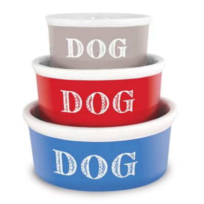Cape Cod Ceramic Dog Bowl