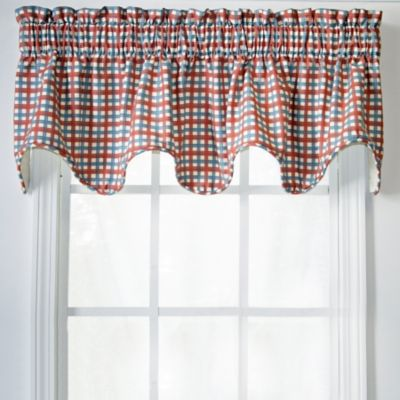 Charleston Check Lined Scallop Valance