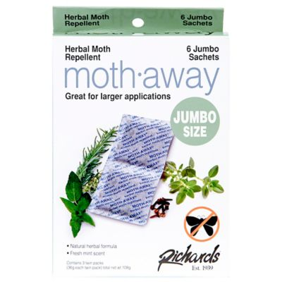 Moth Away Herbal Repellant Sachets-Jumbo Twin Pack