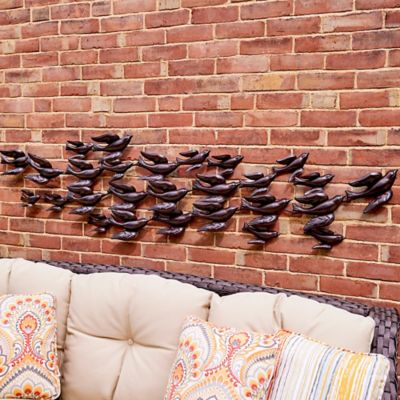 Flock of Sparrows Metal Wall Sculpture
