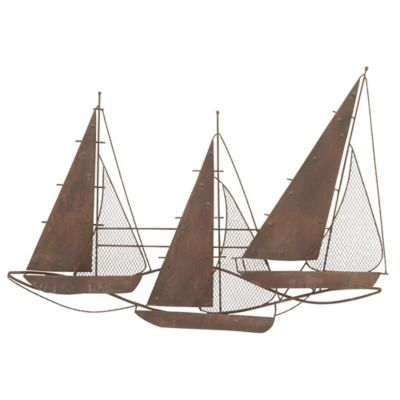 Schooner Metal Wall Art