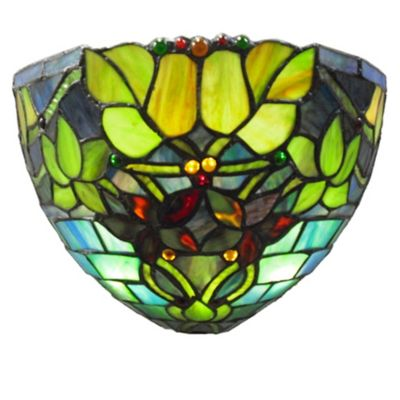 Stained Glass Climbing Vines Wireless LED Wall Sconce