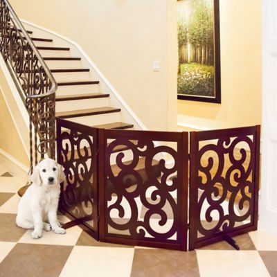 Classic Designer Folding Dog Gate-35"