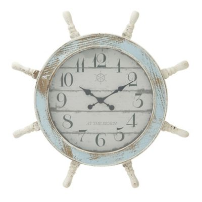 Ship's Wheel Wall Clock