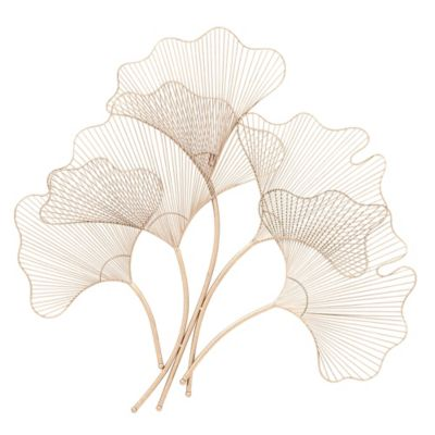 Gingko Leaf Metal Wall Decor