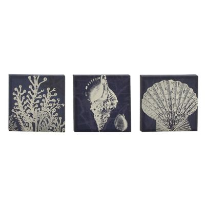 Sealife Canvas Wall Art-Set of 3