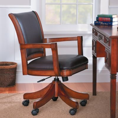Parkview Wood & Leather Office Desk Chair