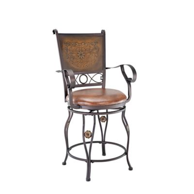 Stamped Copper Bar Stools