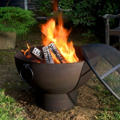 Fire Bowl with Spark Screen-26""