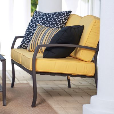 Ellicott Deep Seat Metal Loveseat