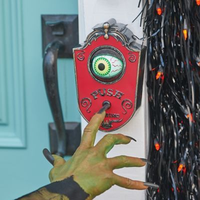 Animated Eyeball Doorbell Halloween Decoration