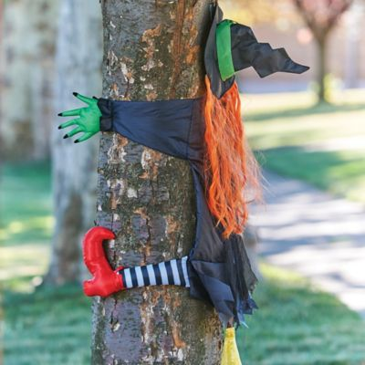 Crashing Witch Halloween Decoration-43""