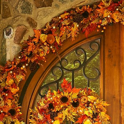 Autumn Harvest Fall Garland-6'