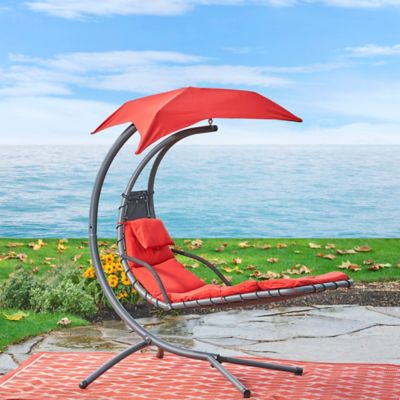 Barbados Metal Floating Lounger with Canopy