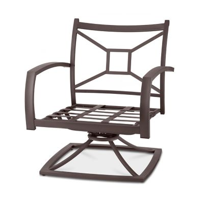 Ellicott Metal Deep Seat Swivel Chair