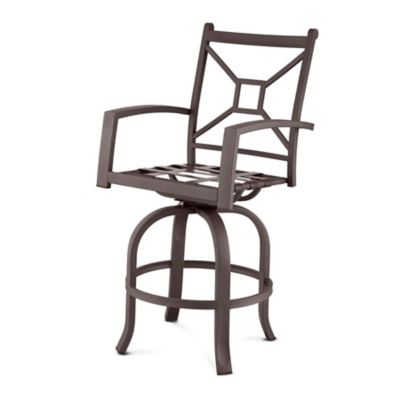 Ellicott Deep Seat Metal Swivel Bar Stool