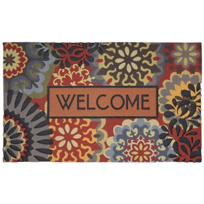 Dimensional Scatter Outdoor Rubber Door Mat