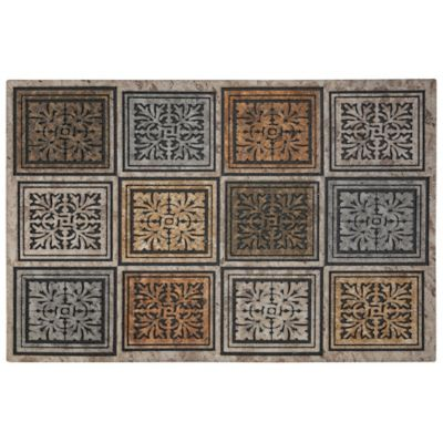 Masonry Foliage Outdoor Rubber Door Mat