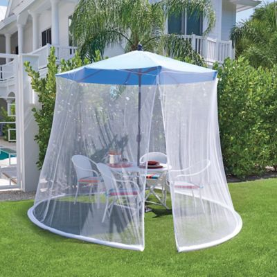 Adjustable Patio Umbrella Screen with Insect Repellent
