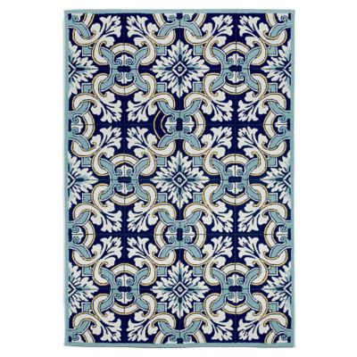 Floral Tile Outdoor Rug