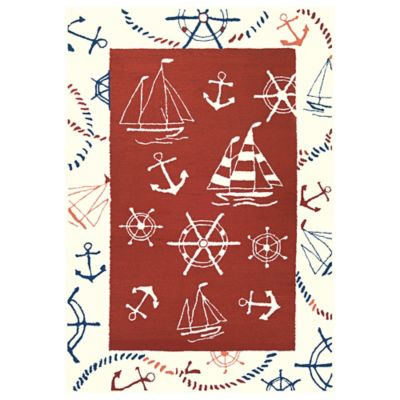 Ocean Park Border Outdoor Rug
