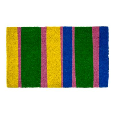 "Bands of Color Coir Door Mat-17"" x 28"""