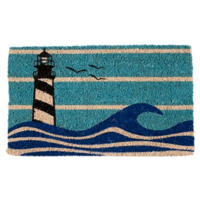 "Lighthouse Coir Door Mat-18"" x 30"""
