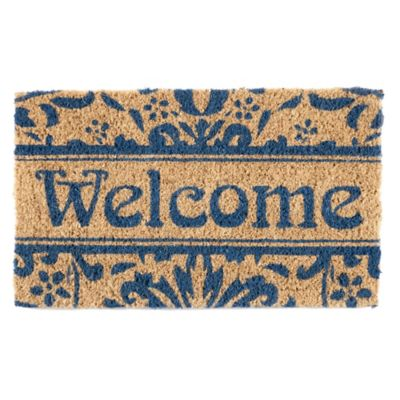 "Damask Welcome Coir Door-18"" x 30"""