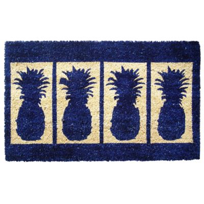 "Four Pineapples Coir Door Mat-18"" x 30"""