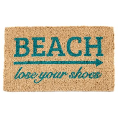 "Lose Your Shoes Coir Door Mat-18"" x 30"""