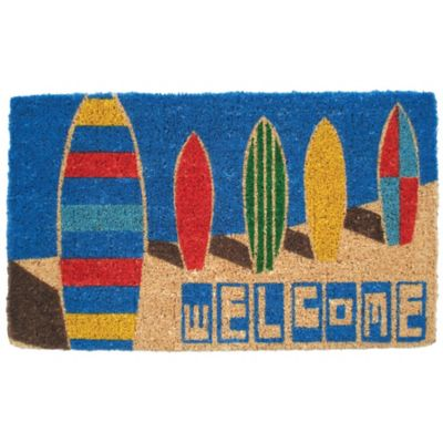 "Surfboards Coir Door Mat-18"" x 30"""