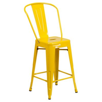 Indoor/Outdoor Bar Stool with Back
