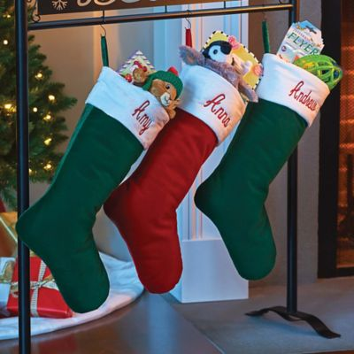 Traditional Velvet Personalized Christmas Stocking
