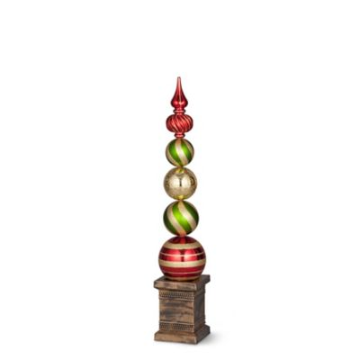 Christmas Ornament Ball Finial Topiaries