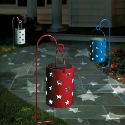 Patriotic Hanging Solar Lanterns-Set of 3