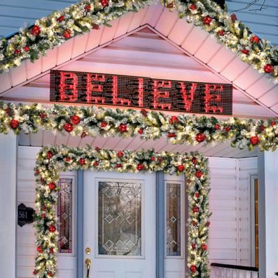 Lighted Believe Outdoor Christmas Sign