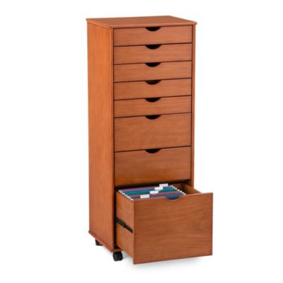 Wellesley 7 Drawer Storage Cart with File