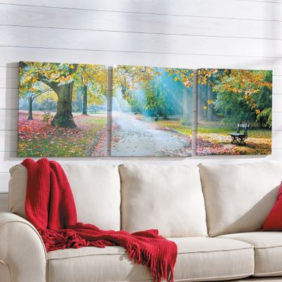 Afternoon in the Park Triptych Canvas Prints