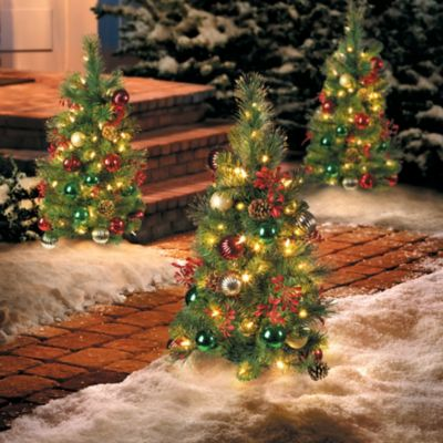 2-1/2' Pre-Lit Merry & Bright Artificial Christmas Tree