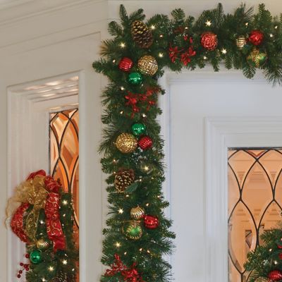 9' Pre-Lit Merry & Bright Christmas Garland