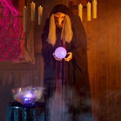Wicked Fortune Teller Witch Halloween Decoration