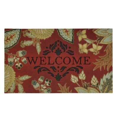 Paisley Salon Outdoor Rubber Door Mat
