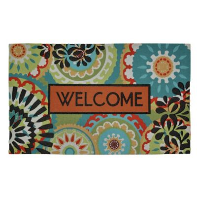 Bright Aztec Medallions Outdoor Rubber Door Mat