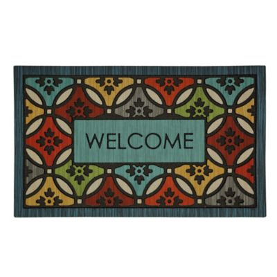Clementine Shades Outdoor Rubber Door Mat