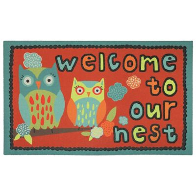 Owl Nest Outdoor Rubber Door Mat