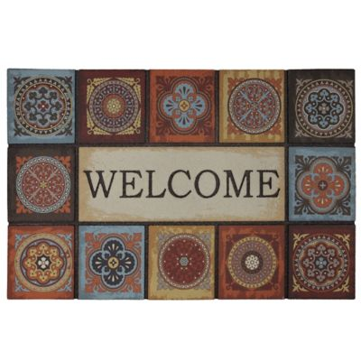 Talvera Fire Outdoor Rubber Door Mat