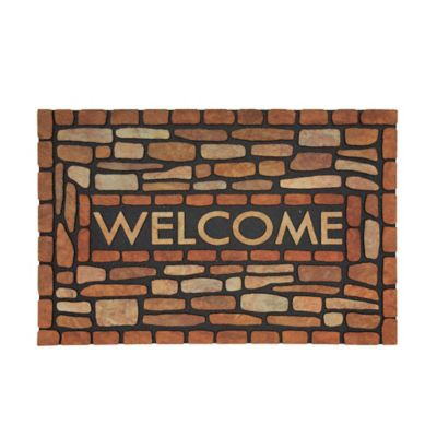 Stone Brook Welcome Outdoor Rubber Door Mat