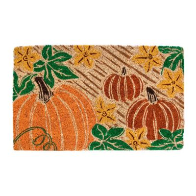 Pumpkin Patch Coir Door Mat