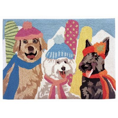 Ski Dogs Outdoor Rugs