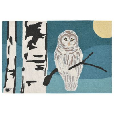 Snowy Owl Outdoor Rugs